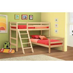 Кровать угловая из массива вариант №8