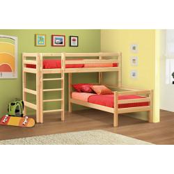 Кровать угловая из массива вариант №7